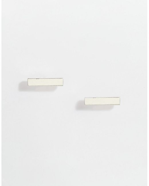 Stella & Bow   Серебряные Серьги-Планки