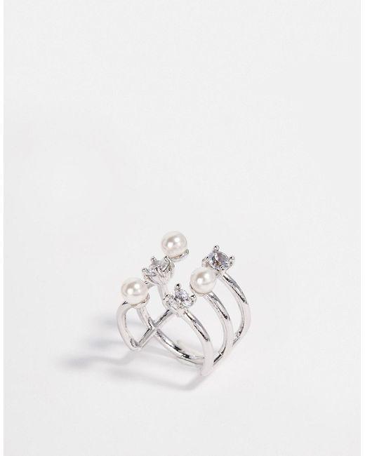 ASOS Collection   Женское Crystal Незамкнутое Кольцо Ограниченной Серии С Жемчугом