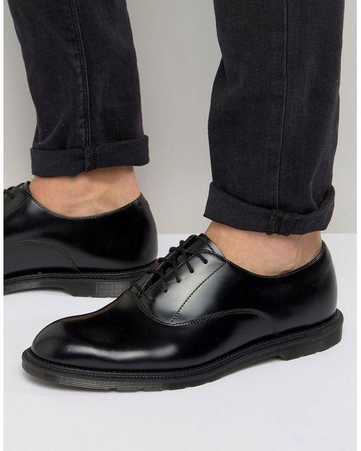 Dr. Martens | Мужские Чёрные Оксфордские Туфли Dr Martens Henley Черный
