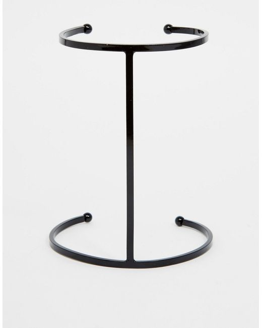 Asos | Чёрный Браслетманжет С Геометрическим Дизайном