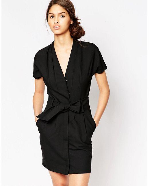 Ganni   Женское Чёрное Черное Платье Moscow Tailor