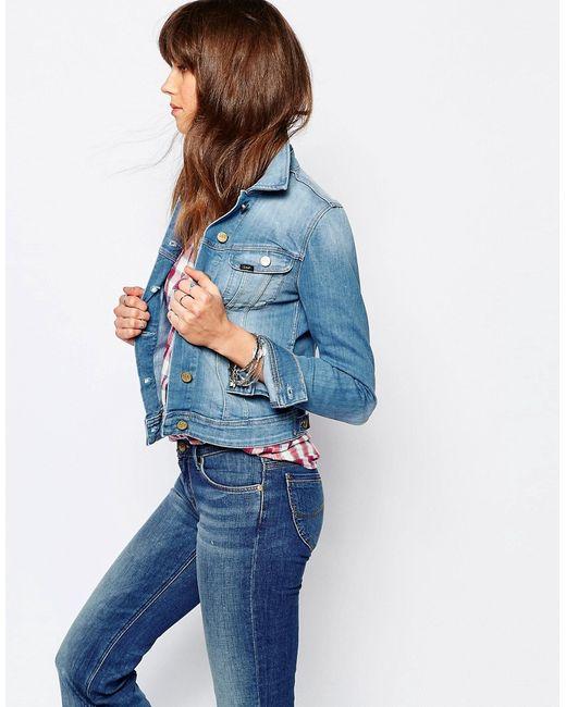 Lee | Женская Синяя Джинсовая Зауженная Куртка Rider