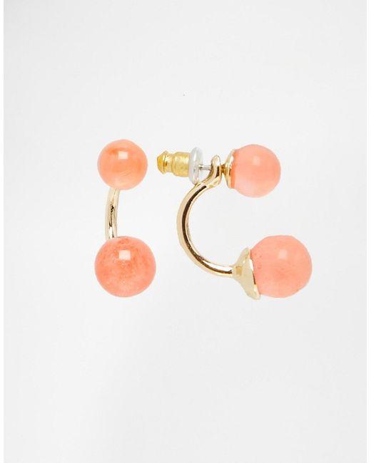 Asos | Розовые Серьги-Подвески С Камнями