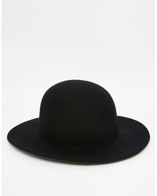 Asos   Мужская Чёрная Черная Шляпа Пасечника С Мягкими Полями Черный
