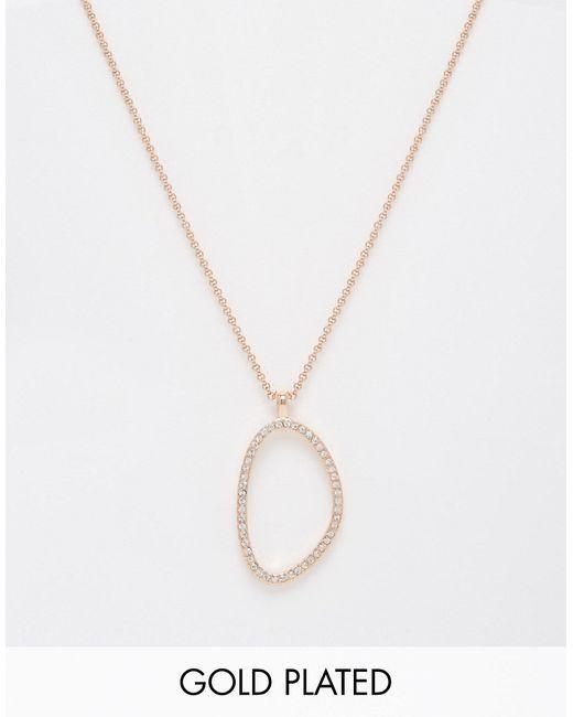 Pilgrim | Женское Розовое Золотое Ожерелье Цвета Розового Золота С Блестящей Подвеской