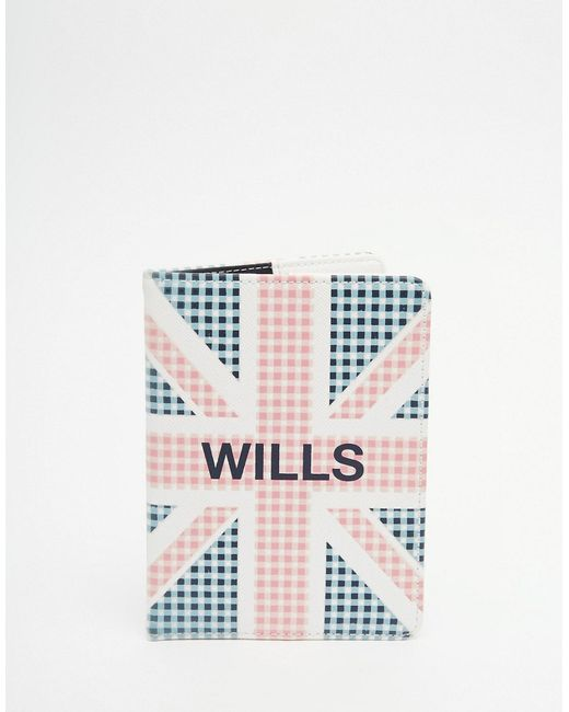 Jack Wills | Британский Флаг Обложка Для Паспорта В Клеточку Whitby