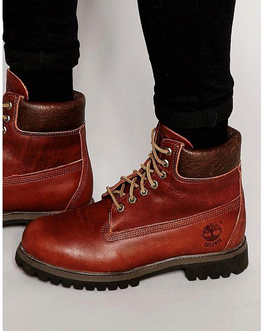 Timberland   Мужские Коричневые Кожаные Ботинки Classic Premium