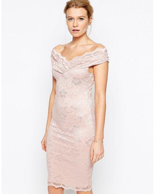 Jessica Wright | Женское Розовое Кружевное Платье Olivia