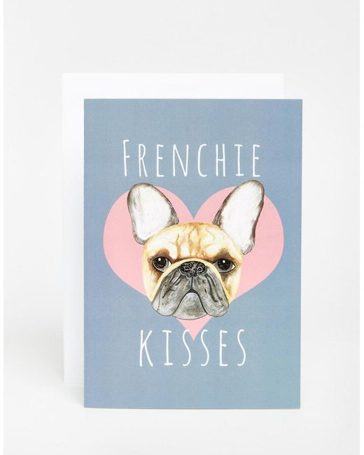 Jolly Awesome | Многоцветная Открытка Frenchie Kisses Мульти