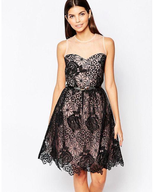 Little Mistress | Женское Платье С Цветочной Накладкой