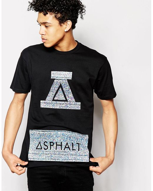 Asphalt Yacht Club | Мужская Чёрная Футболка С Логотипом