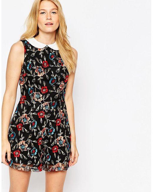 Glamorous | Женское Многоцветное Платье С Вышивкой И Воротником