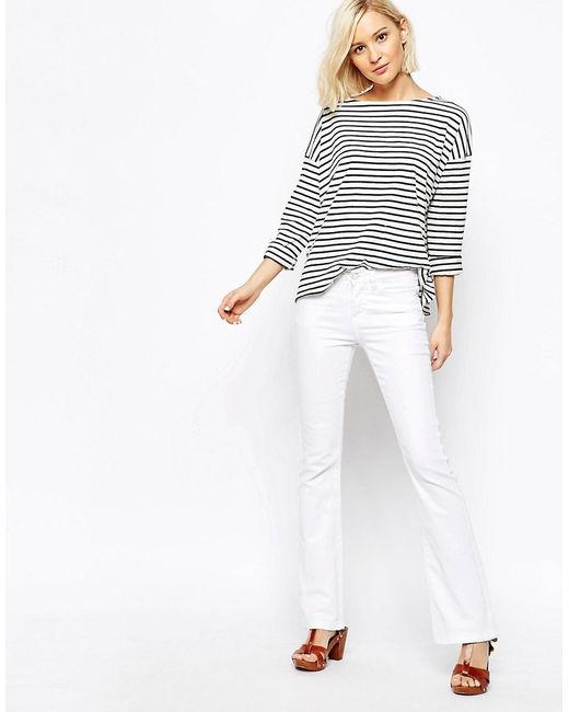 Vero Moda | Белые Джинсы С Легким Клешем Grace