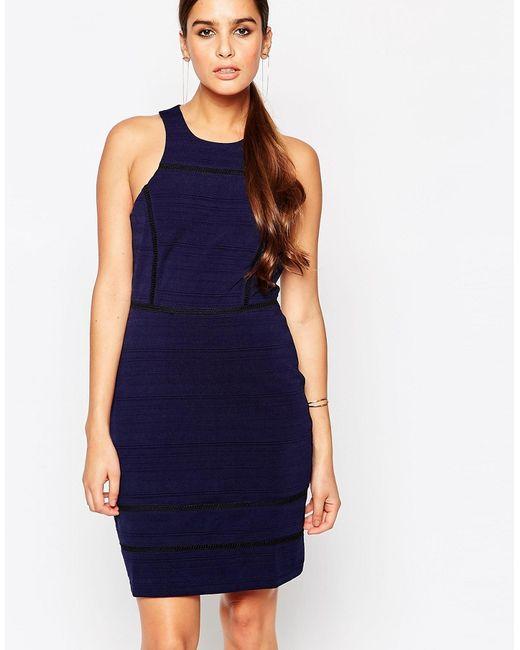 Adelyn Rae | Женское Синее Темно-Синее Облегающее Платье