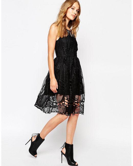Suncoo | Женское Noir Платье С Сетчатым Слоем Carmen