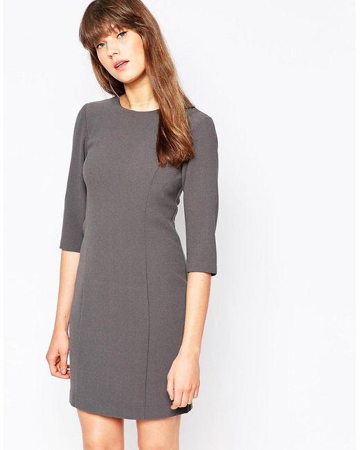 Vero Moda | Женское Asphalt Цельнокройное Платье С Рукавами 3/4 Asphalt