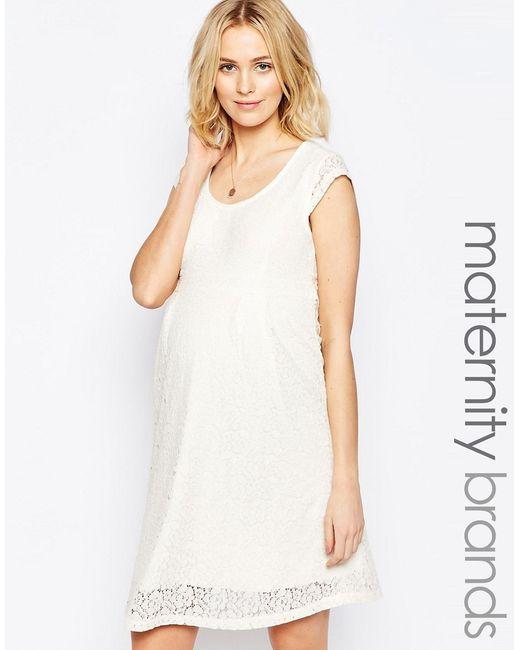 Mama Licious | Женское Белое Кружевное Платье Для Беременных Mamalicious