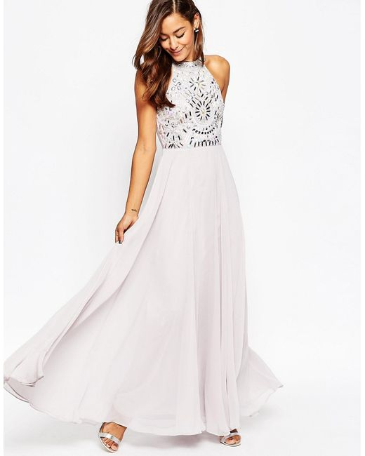 Asos | Женское Фиолетовое Платье Макси С Вырезами