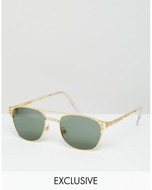 Reclaimed Vintage | Золотые Солнцезащитные Очки В Стиле Ретро