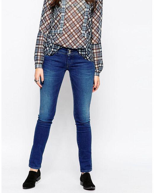 Pepe Jeans London | Мужские Синие Джинсы Скинни Divine