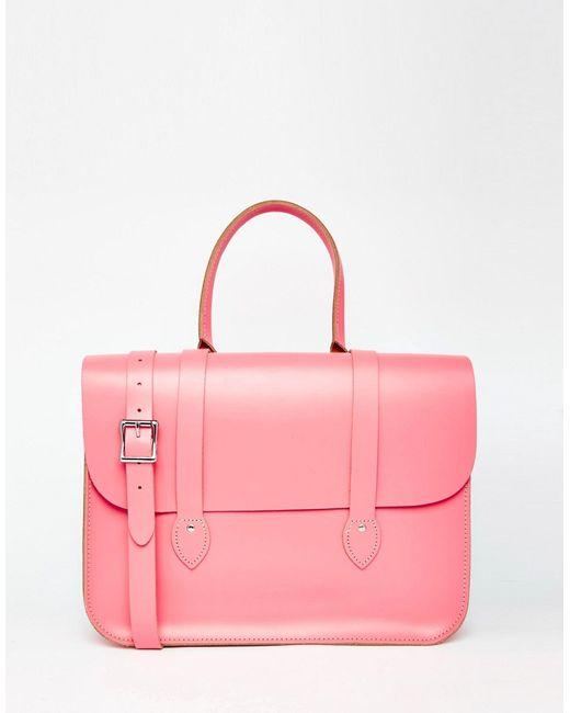 Leather Satchel Company | Розовая Сумка-Тоут The