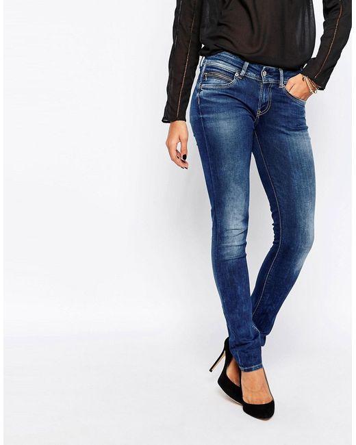 Pepe Jeans London | Женские 000 Денившие Зауженные Джинсы New Brooke 000 Деним