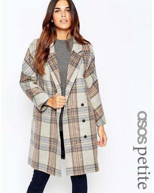 ASOS PETITE | Многоцветное Oversize-Пальто В Клетку
