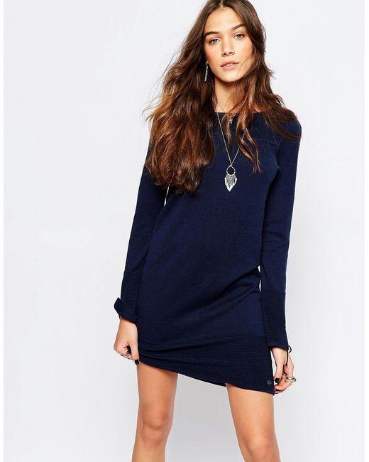 Esprit   Женское Синее Трикотажное Платье