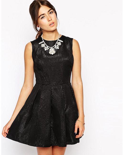 Hedonia | Женское Чёрное Короткое Приталенное Платье Lottie