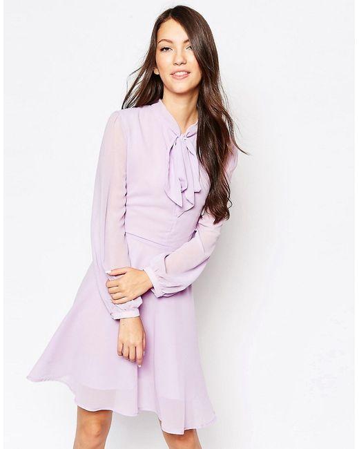 Glamorous   Женское Фиолетовое Платье С Бантом