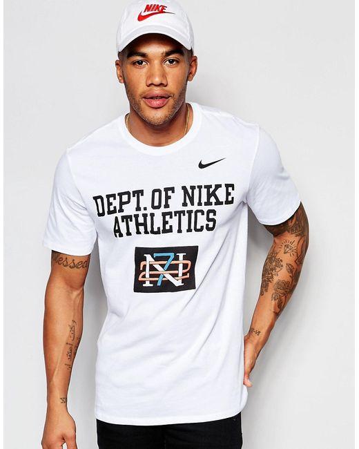 Nike | Мужская Белая Белая Футболка С Принтом 779704-100
