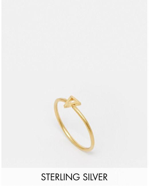 Dogeared | Женское Золотое Позолоченное Кольцо С Треугольником