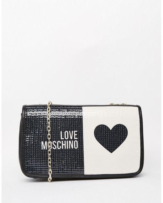 Love Moschino | Чёрная Стеганая Сумка На Плечо С Логотипом Черный