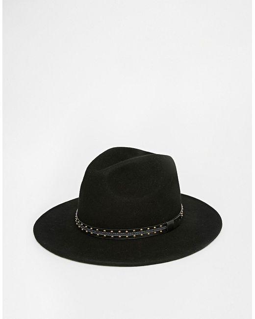 Asos | Мужская Чёрная Черная Мягкая Фетровая Шляпа С Широкими Полями