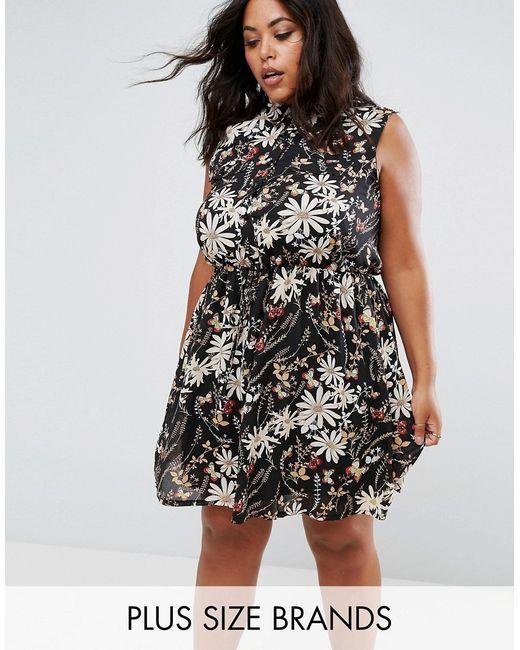 Praslin | Чёрное Платье-Рубашка С Принтом