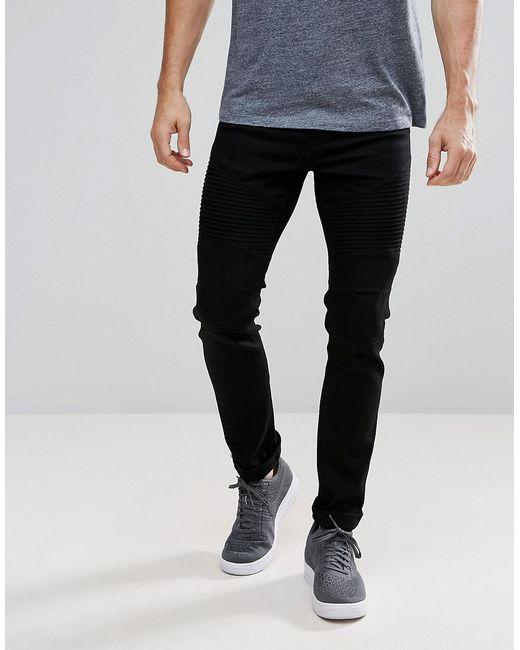 Voi Jeans | Женские Чёрные Байкерские Джинсы Скинни