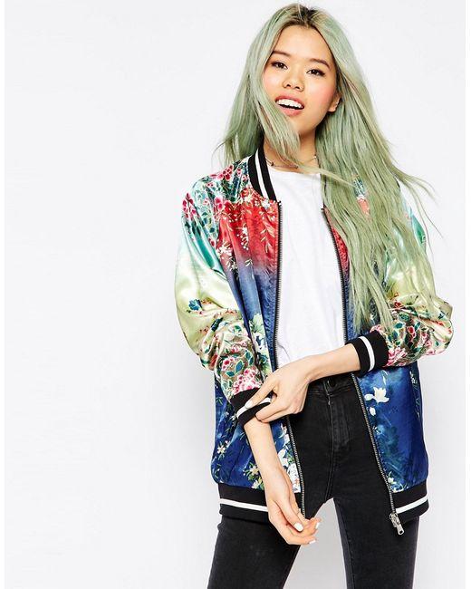 Asos | Многоцветная Куртка-Пилот С Эффектом Омбре Мульти