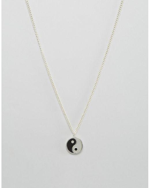 Asos | Серебряное Ожерелье Ying Yang
