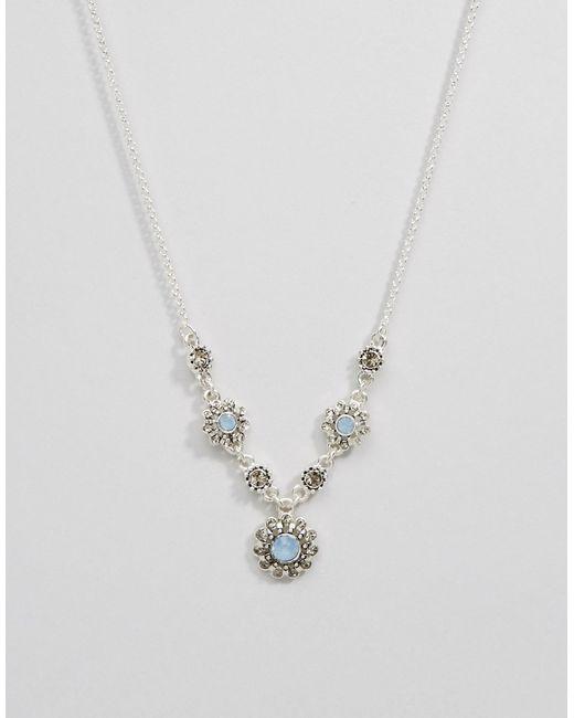 Pilgrim | Посеребренное Ожерелье С Цветами
