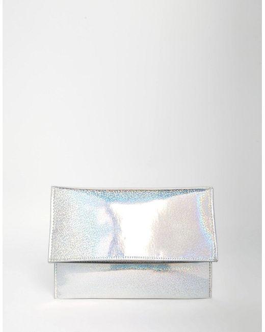 Asos | Женский Многоцветный Блестящий Клатч С Голографическим Эффектом