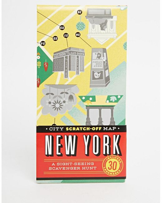 Gifts | Многоцветная Книга City Scratch Off Map New York