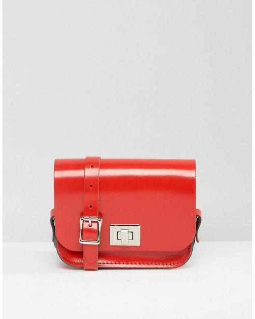 Leather Satchel Company | Лакированная Красногая Сумочка Через Плечо The Лакированная Красного Цвета