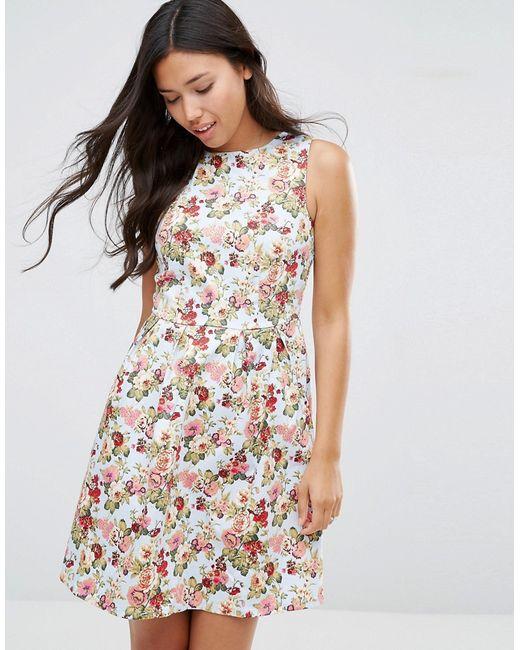 Sugarhill Boutique | Женское Голубое Платье С Цветочным Принтом Hatty Светло-Голубой