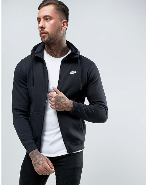 Nike | Мужское Чёрное Черное Худи Club 804389-010 Черный