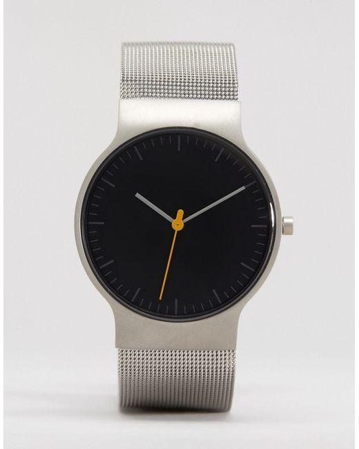 Braun | Мужские Серебряные Классические Часы С Серебристым Сетчатым Ремешком И