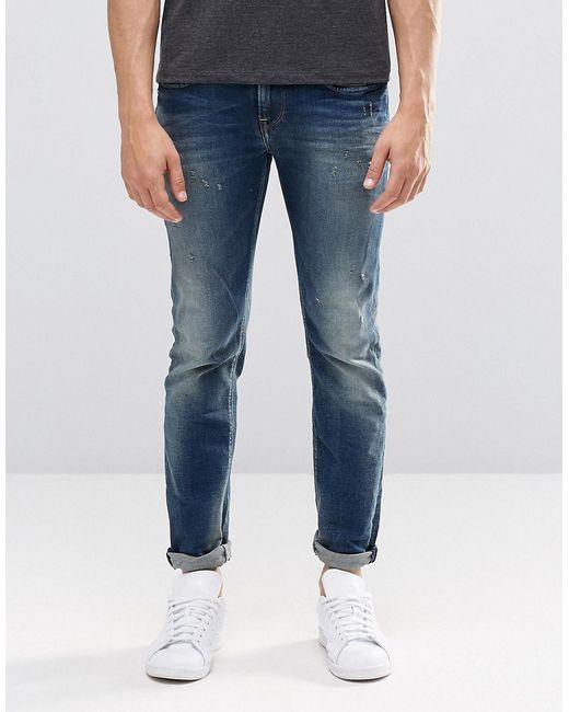Pepe Jeans London | Женские Sanfore Twist Прямые Выбеленные Джинсы Pepe Kingston N56 Sanfore