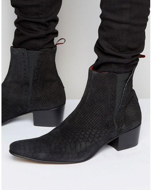 Jeffery west | Мужские Чёрные Замшевые Ботинки Челси Murphy Черный