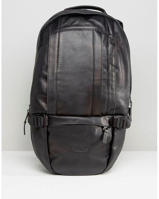 Eastpak | Чёрный Кожаный Рюкзак Floid Черный