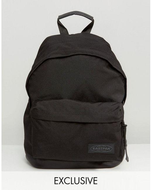 Eastpak | Чёрный Эксклюзивный Рюкзак С Кожаным Дном Wyoming Black