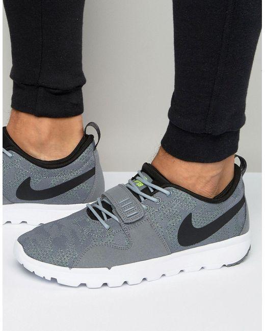 Nike SB | Мужские Серые Серые Кроссовки Trainerendor 616575-007 Серый